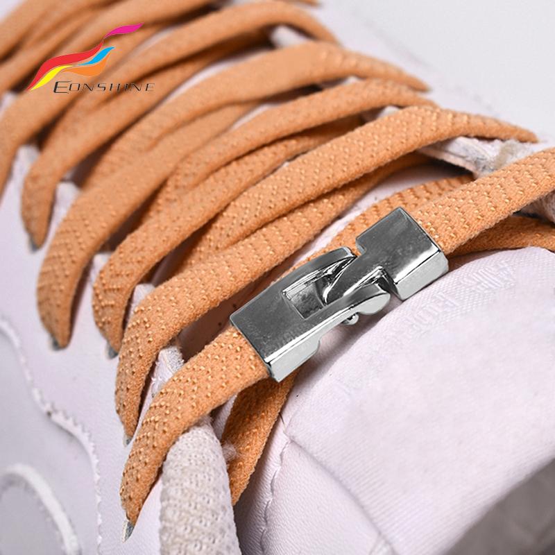 Convenient Shoe Buckle Stylish Flat Dot Anti Slip Shoe Shoelace Clasp Fast Lacing