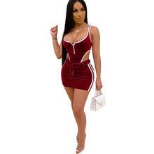 Бархатные боди + юбки, костюмы, сексуальный комплект из двух предметов с вырезами, для ночного клуба, сексуальные, для ночного клуба, уличная ...(Китай)