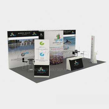 Portable Exhibition Stand 3x6 Trade Show Booth Display