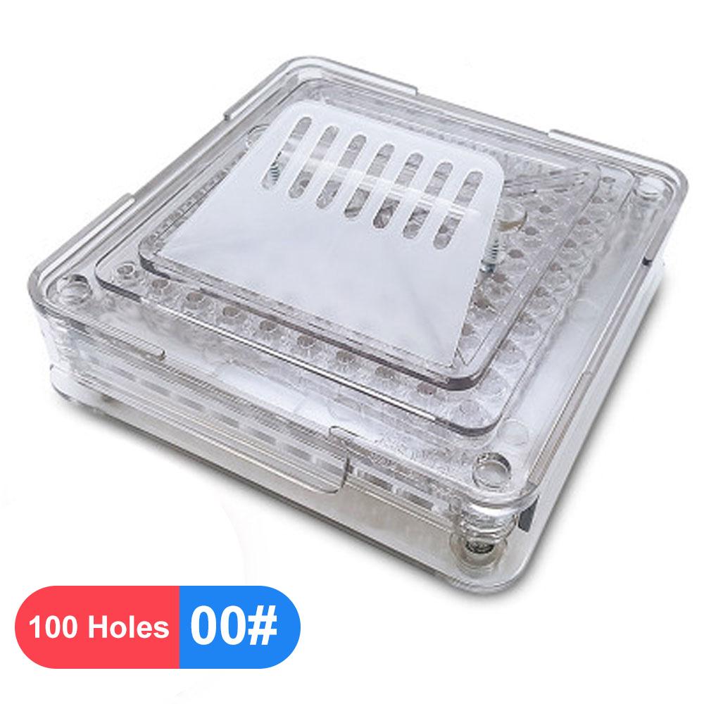 00 #000 #100 отверстие медицинский порошок ручная машина для наполнения прозрачный акриловый пищевой инструмент DIY дозатор капсул(Китай)