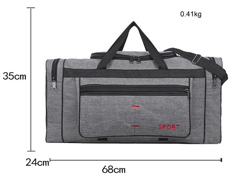 2 Side Pocket Carry-on Weekend Overnight Holdall Cheap Price Oversize Canvas Travel Duffle Bag