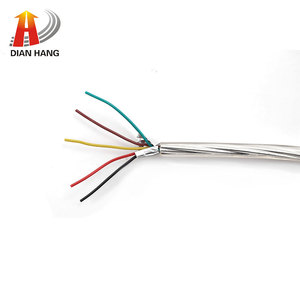 oem/odm custom 26awg 5 core + aluminum foil +braide OD:4.0 mm Tinned copper digital products Data transmission cable