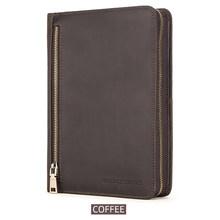 Чехол-книжка CONTACT'S FAMILY A5, кожаный Органайзер Crazy Horse для iPad Mini 1, 2, 3, 4, 5, 7,9 дюйма, сумка на молнии для журнала(Китай)