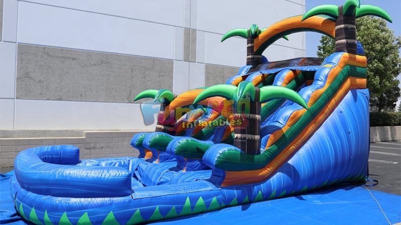 키즈 상업 거대한 풍선 워터 슬라이드 풍선 슬라이드