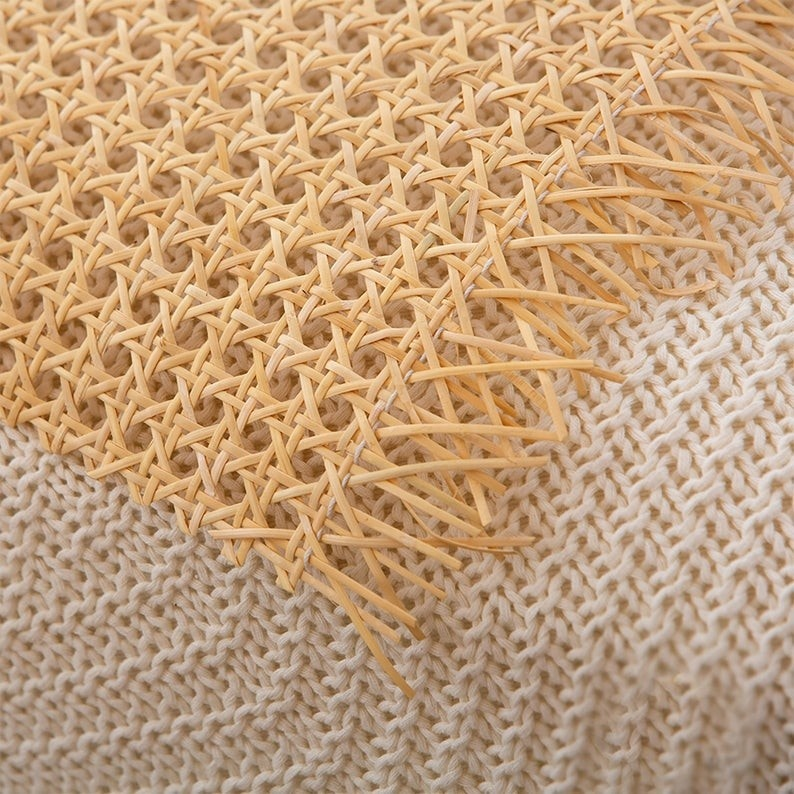 Grid Rolls Premium Quality Natural Rattan Cane Webbing Weave Wholesale Rattan Webbing
