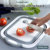 Creative Kitchen necessities collapsible chopping basin basket blocks board with bucket folding food plastic chutting baro