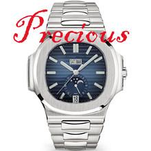 Мужские механические часы GRF/V9F 24 часовая индикация 5726 часы из нержавеющей стали лучшая версия 324 Move Men t Высокое качество AAA Реплика(Китай)