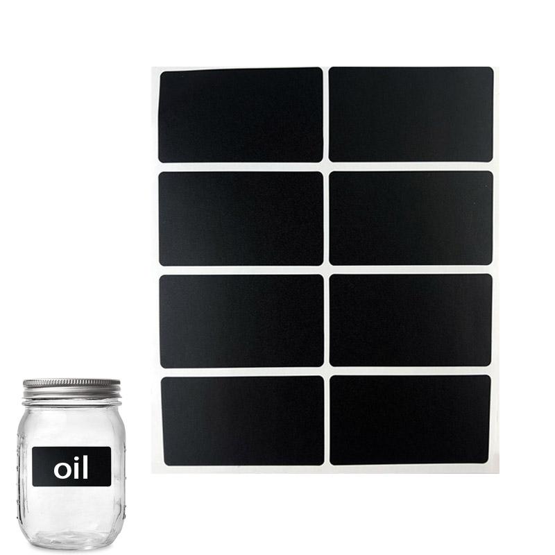Wasserdicht entfernen tafel etikett pvc aufkleber mason jar schwarz aufkleber