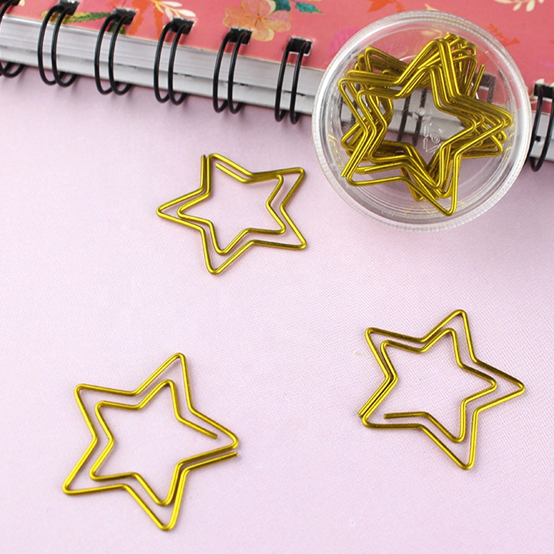 Office stationery decorative cute bookmark star shaped paper clip