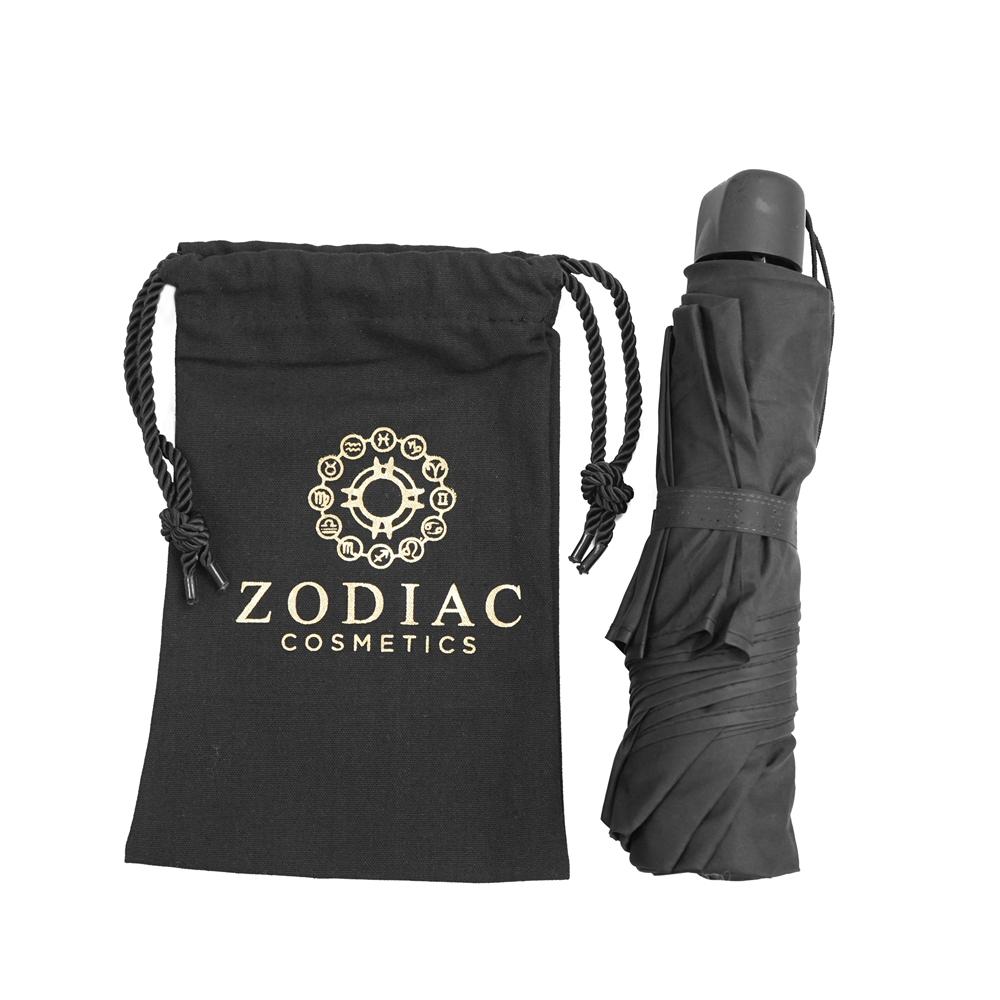 Customized logo drawstring natural reusable cotton dust bag for umbrella