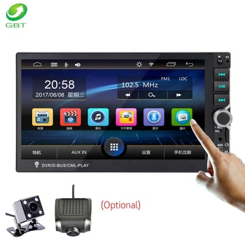 GBT Universal mirrorlink USB FM SD AUX Bluetooth STEREO 7 inch 1DIN Capacitance Screen mp5 player Car Audio