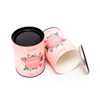 cylinder paper tube tea canister custom coffee tea sugar canister