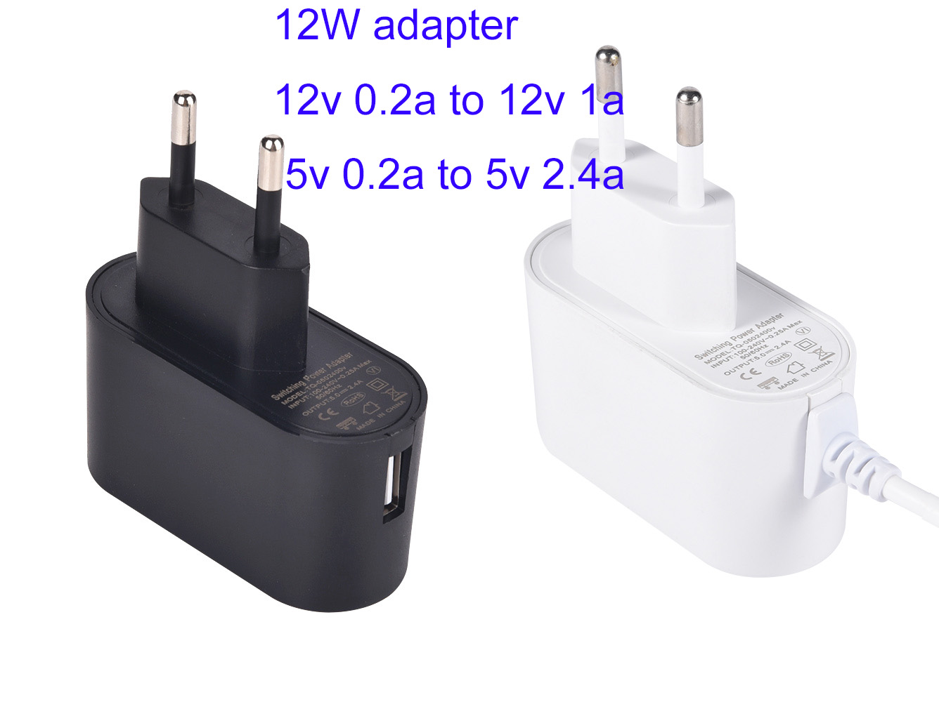 Efficiency level VI 5v 1a portable USB charger with UL/CUL FCC TUV CE EMC ROHS