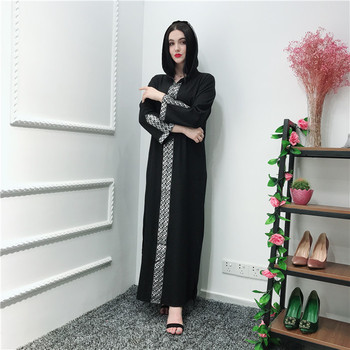 2019 wholesale new arrival fashion Muslim Open Soft Crepe Abaya long black dress with hood muslim clothing abaya duabi