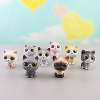 Creative personality resin cute jewelry cartoon decorative gift supply blue cat shaking head accessories car interior decoration