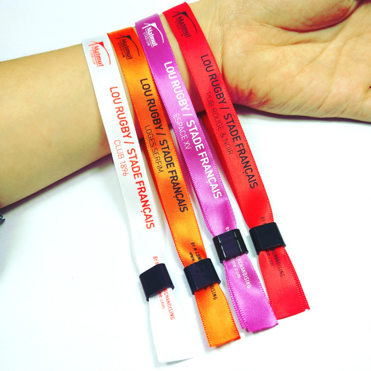 Cheap custom satin promotional wristband for events