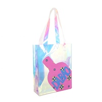 Women durable holographic shopping bag hand bag portable holographic tote bag