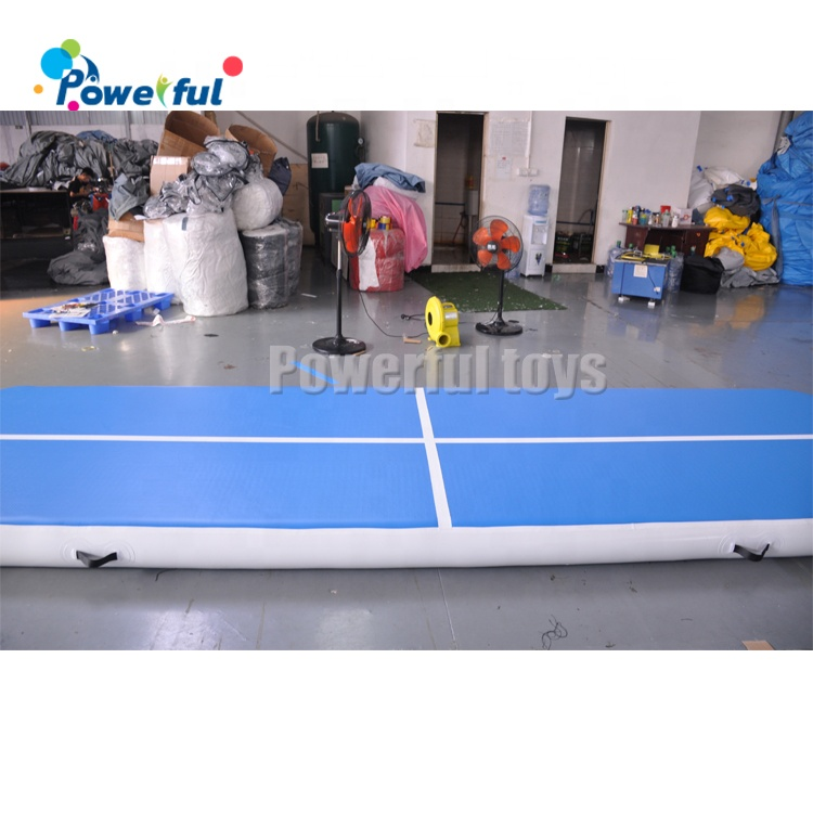 Blue And White Airtrack Air Tumble Track Air Floor for gymnastics