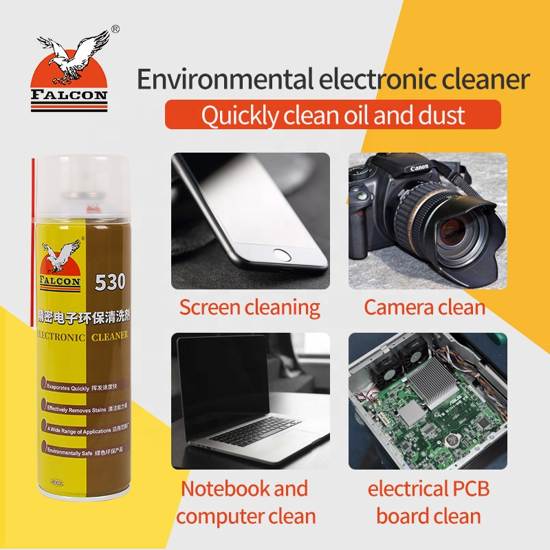 Falcon 530 electronic cleaner contact cleaner mobile phone screen clean glass clean dedusting glue spray glass clean 550ML