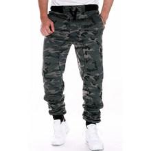 Камуфляжные штаны для скейтбординга для мужчин, модные повседневные обтягивающие штаны для мужчин, брюки для фитнеса со средней талией для ...(Китай)