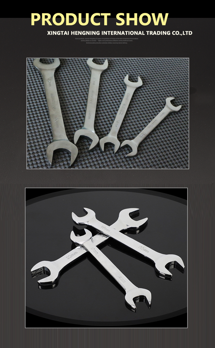 Hot Selling High Quality Industrial Use or Household Open End Wrench