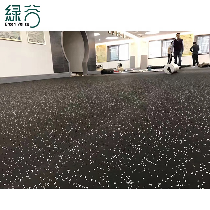 Anti-Shock Soft Rubber Floor Gym Roll Flooring/Outdoor Rubber Matting Roll For Fitness sport Center With CE/ISO/EN1177