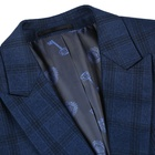 Coat Pant 2020 New Design Navy Checked TR Fabric Weeding Business Formal Men's Suits Coat Pant Made In China