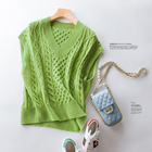 2020 winter and autumn women casual daily wear Korean style loose wool vest sweater