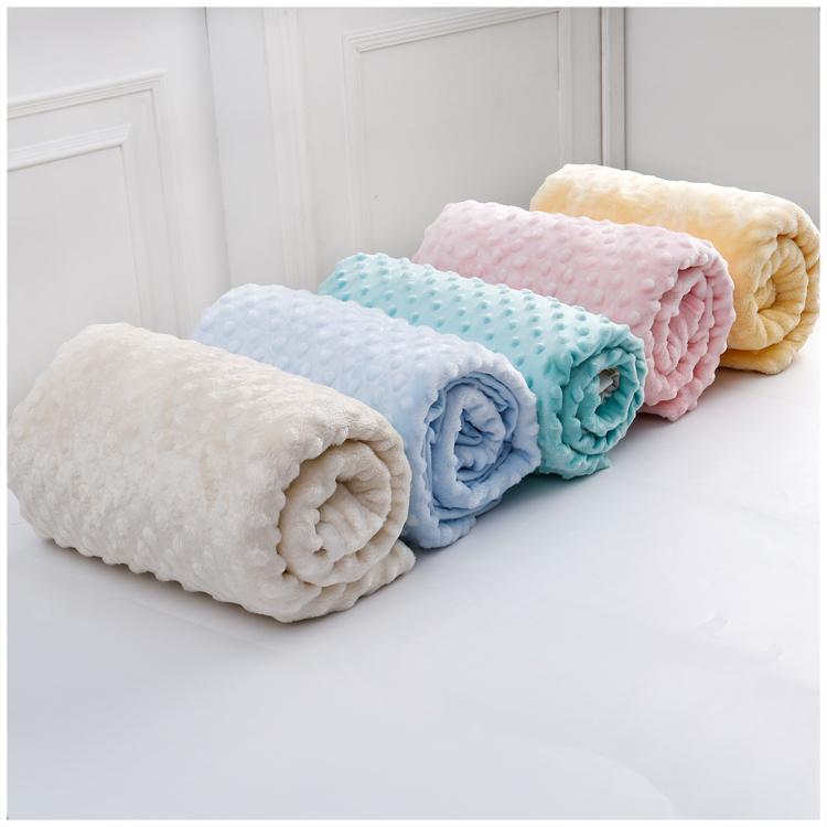 Micro Velvet Minky Dot Fabric For Baby Blanket Fabric