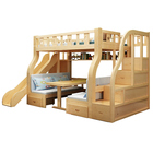 Wholesale Multifunctional Safety Children Furniture Set Wooden Bunk Bed for Kids with Desk and Wardrobe