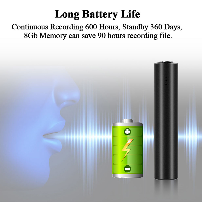 Mini Voice  Recorder, 8GB/16GB/32GB Super Long Recording Capacity Audio Sound  Continuo with Strong Magnetic