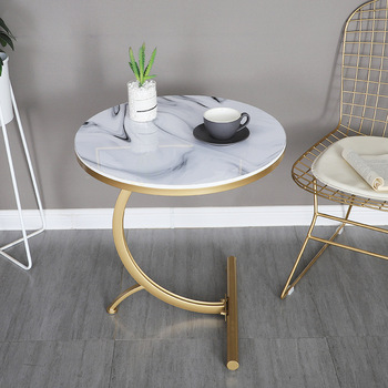 Marble Coffee Table Nordic Style Home Furniture Metal Small Stock