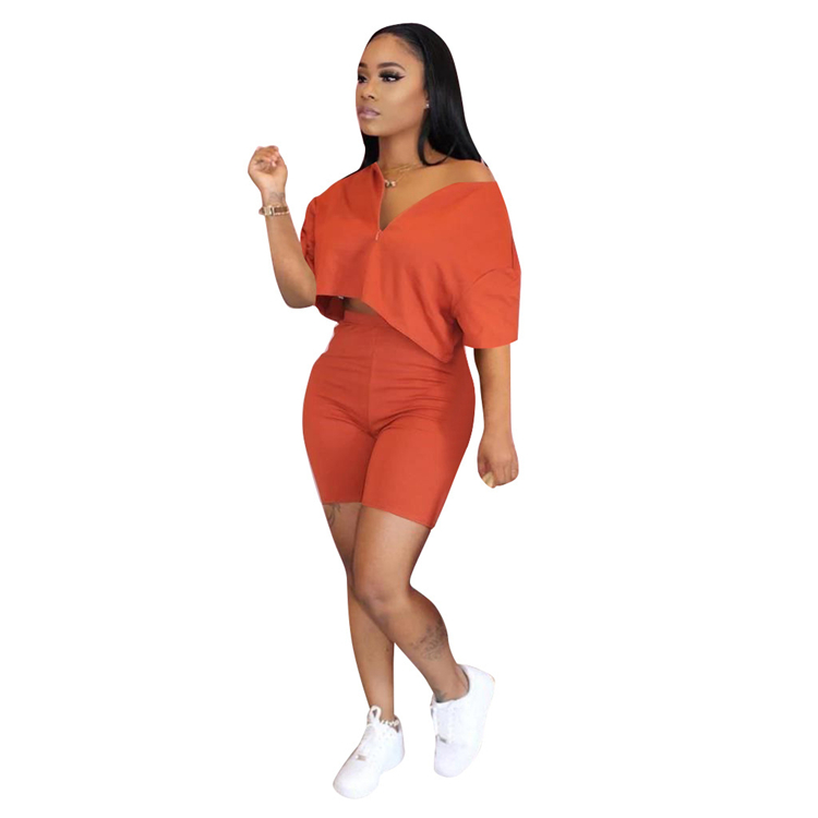 PH-20657 New 2 Piece Set Women Summer 2020 Womens Fashionable Temperament Leisure 2 Piece Outfit Wholesale Clothing