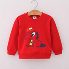Newborn Sweatshirts Size 1 2 3 Year Kids Baby Clothing Baby Boys Girls Hoodies Unisex Cartoon Tracksuit Clothing Red Blue Pink