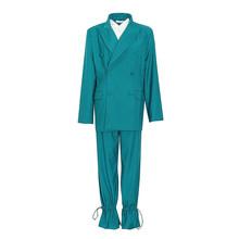 Женский блейзер TWOTWINSTYLE, с отложным воротником и длинным рукавом, с высокой талией и брюки, повседневный костюм(Китай)