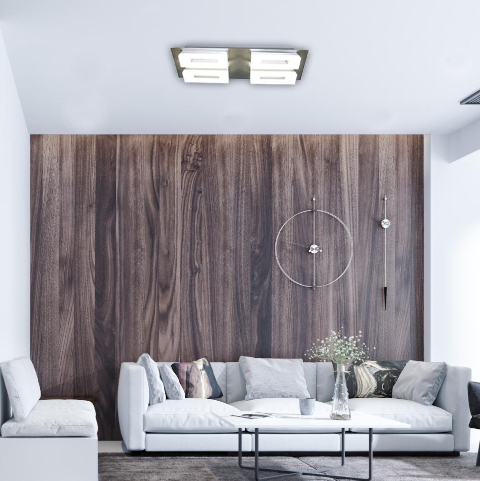 Iron AC 220 240V Led 20W LED Indoor Ceiling Light Fixture COB 4*5W Square Ceiling Spot Light