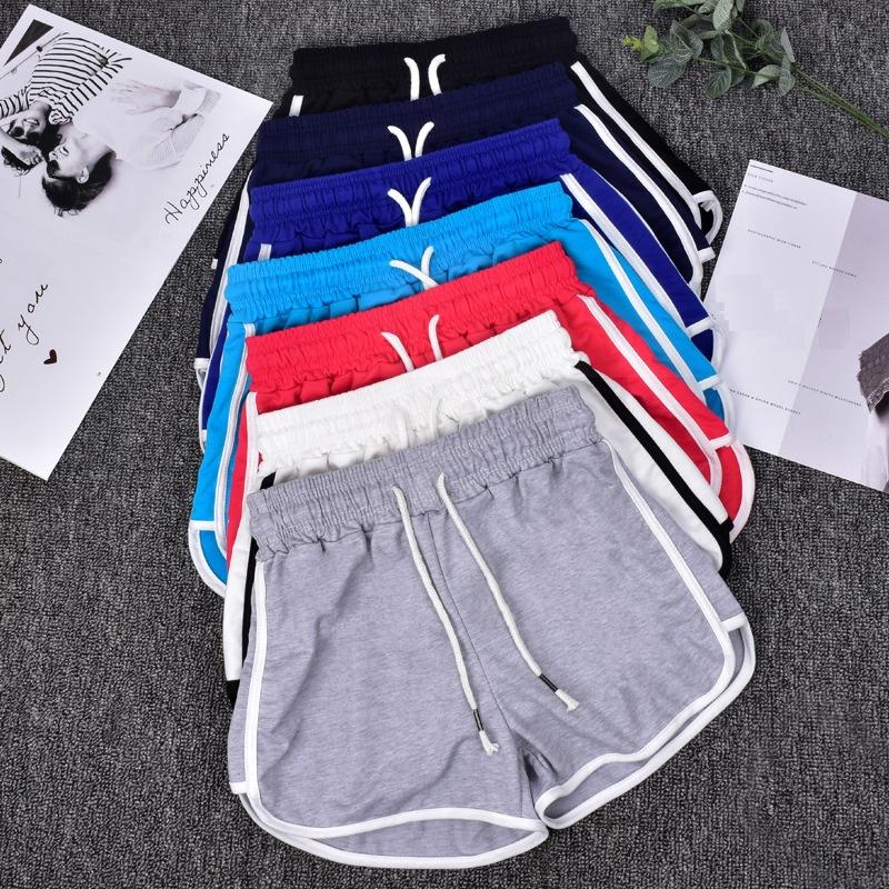 Ropa Deportiva yoga fitness personalizado bordado de logotipo de impresión de algodón de las mujeres pantalones cortos de gimnasio