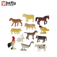 Kids collection mini plastic soft toy farm animals