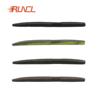 RUNCL Pack of 15 Fishing Wacky Worm 4 Inch Soft Plastic Senko Worms