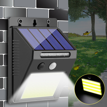 48 COB LED Solar Light PIR Motion Sensor Wall Lamp Human Body Infrared Outdoor Waterproof Home Garden Street Security Lights