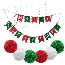 Decorazione <span class=keywords><strong>tema</strong></span> <span class=keywords><strong>del</strong></span> <span class=keywords><strong>partito</strong></span> <span class=keywords><strong>Set</strong></span> di natale Buon Natale Banner Di Natale Decorazione <span class=keywords><strong>Set</strong></span>