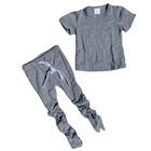 Cotton Kids High Quality Private Label Baby Cotton Suit Stacked Pants T Shirt Set Clothing Girl Kids Clothes