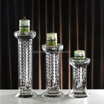 Fashion design votive single head crystal candelabras with different size