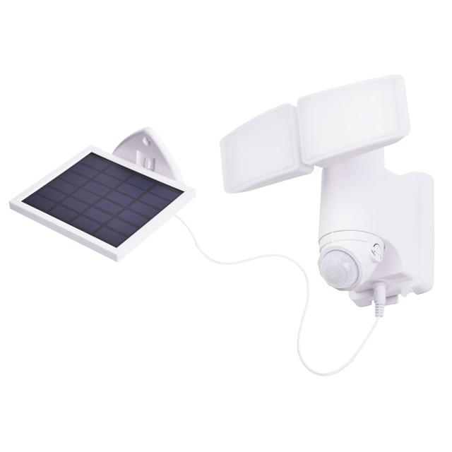 Loyal T garden led white plastic wide angle solar powered led lamp wall motion  light