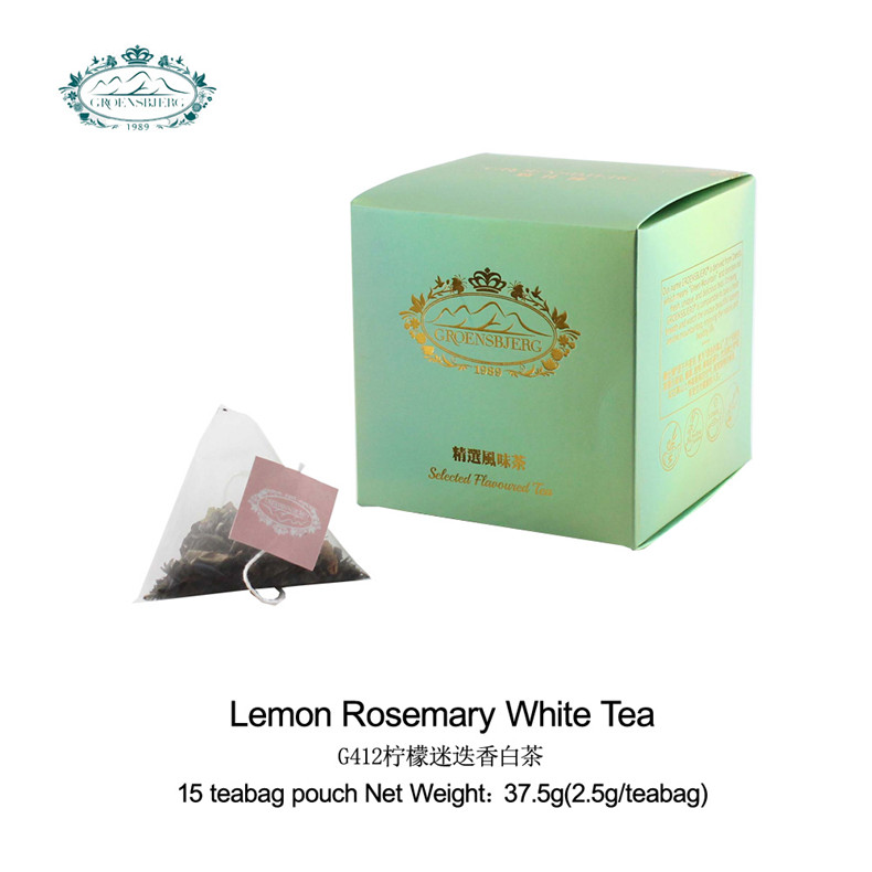 tea factory White tea with lemongrass, rosemary leaves, applemint refreshing fragrance of lemon and rosemary - 4uTea | 4uTea.com