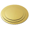 Round Cake Base Board Cardboard Disposable Cake Pizza Circle Scalloped Gold