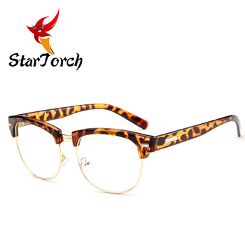 The new metal half frame spectacle frame of men and women rivet frames