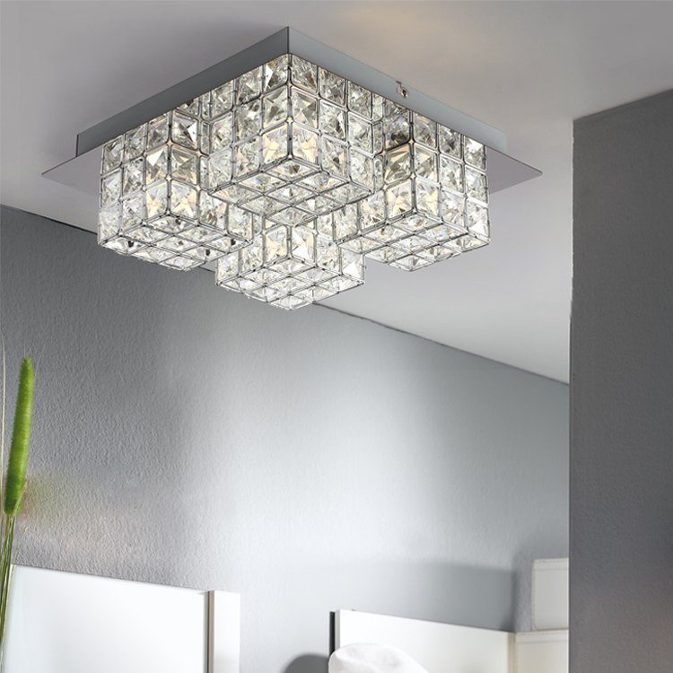 Modern design glass ceiling light LED strip glass design ceiling light for living room/dining room