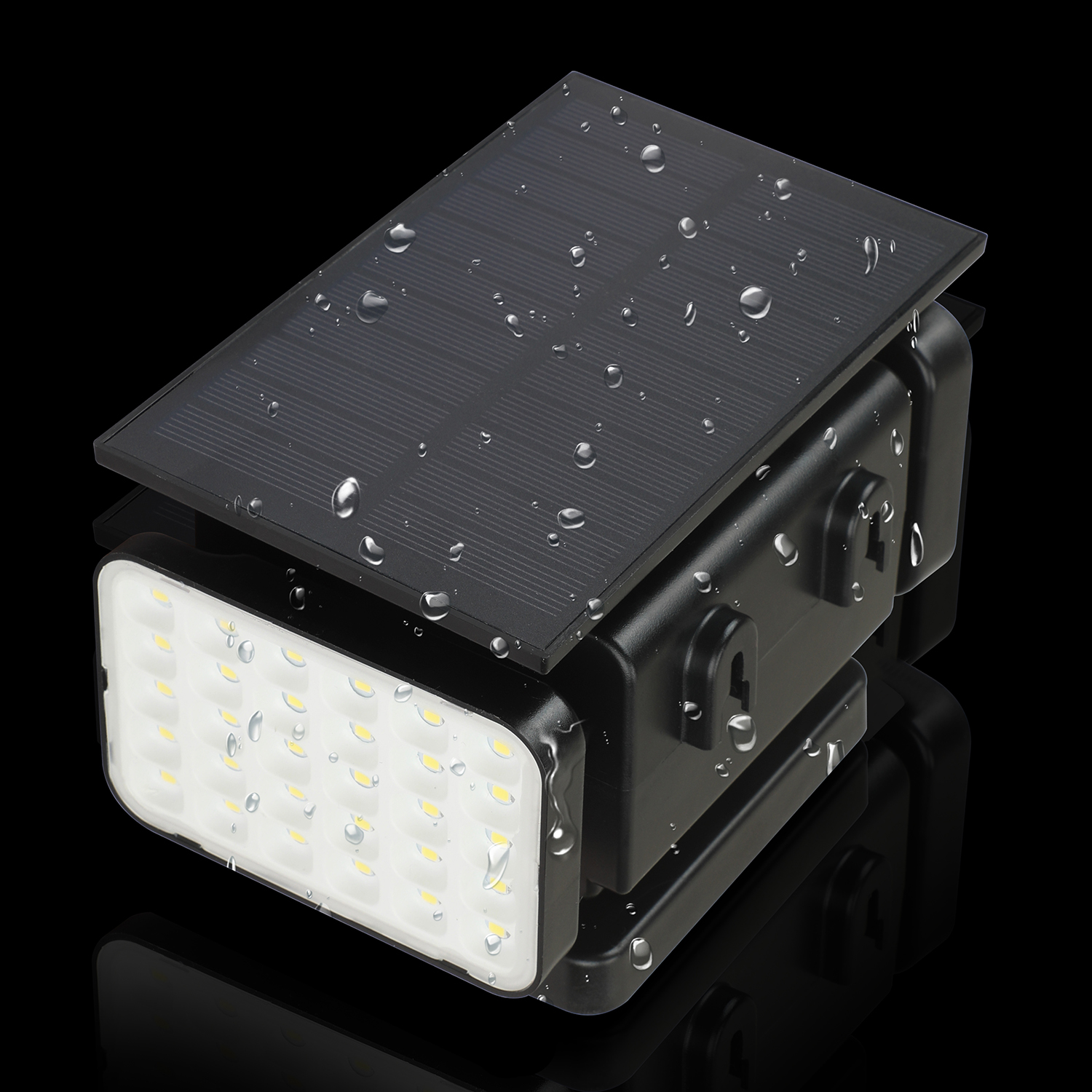 Outdoor Motion Detection Solar Light 90LED Solar Lights Three Heads With Control Remote