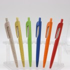 simple color eco plastic abs black blue ball pen with custom logo